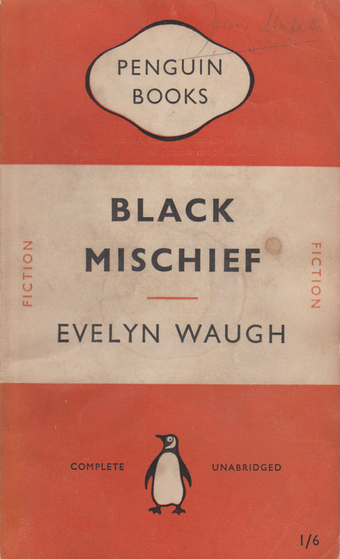 1951 Evelyn Waugh Black Mischief Penguin Cover 2