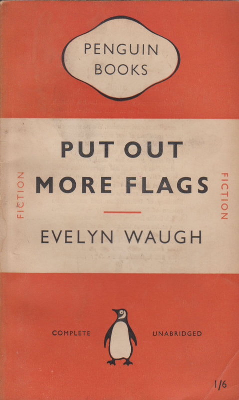 1951 Evelyn Waugh Put out More Flags Penguin Cover