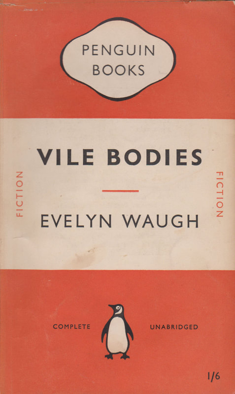 1951 Evelyn Waugh Vile Bodies Penguin Cover
