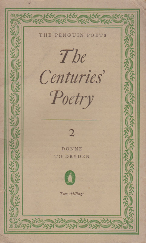 1952 Denys Kilham Roberts The Penguin Poets The Centuries Poetry Donn to Dryden Penguin Book Cover