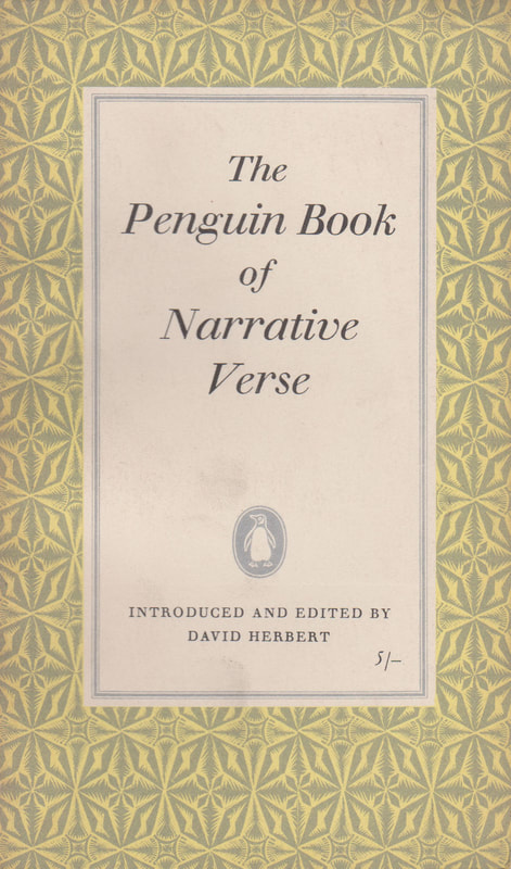 1960 David Herbert The Penguin Book of Narrative Verse Penguin Book Cover