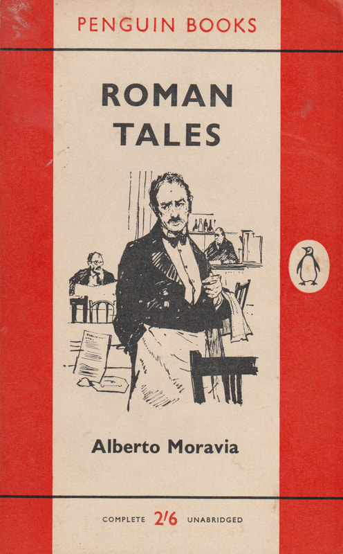 1961 Alberto Moravia Romans Tales (Charles Mozely) Penguin Cover