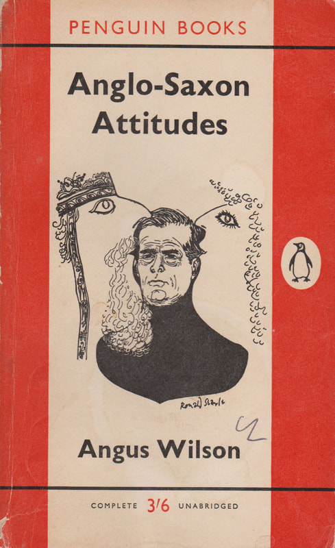 1961 Angus Wilson Anglo-Saxon Attitudes (Ronald Searle) Penguin Cover