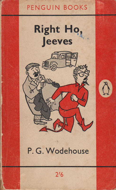 1961 P G Wodehouse Right Ho, Jeeves (Geoffrey Salter) Penguin Cover