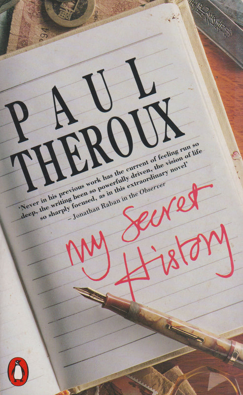1990 Paul Theroux My Secret History (Moggy) Penguin Book Cover