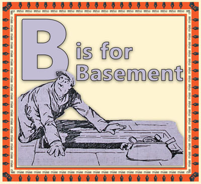B is for Basement flashcard