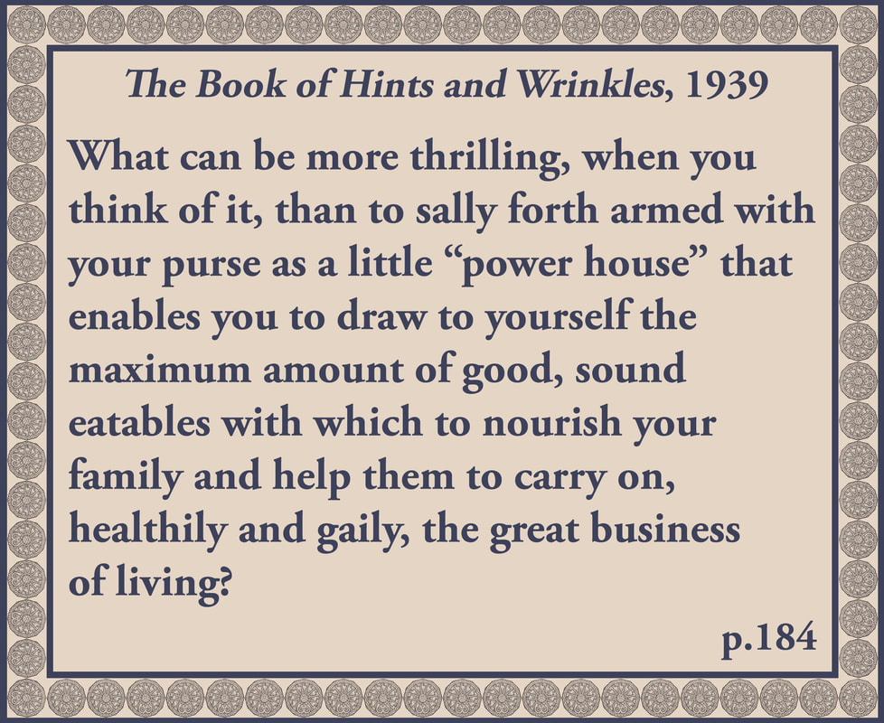 The Book of Hints and Wrinkles advice on shopping again