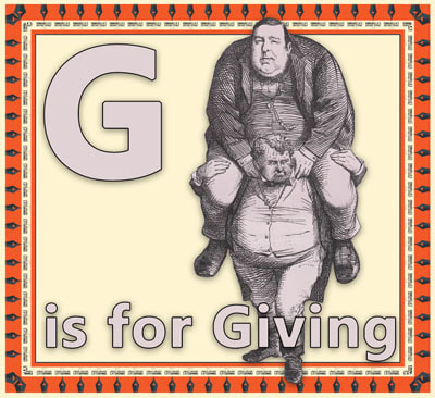 Alphabet flashcard G is for Giving