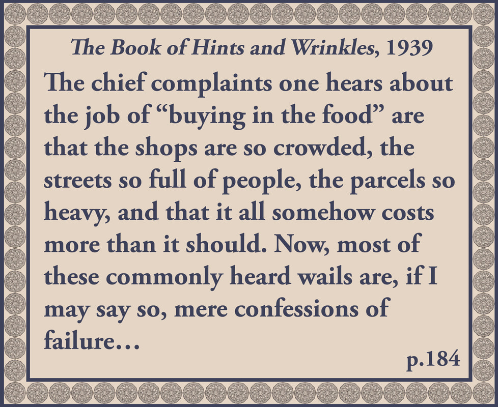 The Book of Hints and Wrinkles advice on further shopping