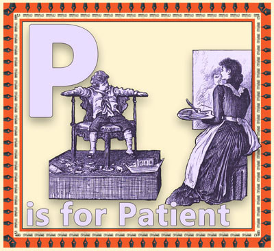 Alphabet flashcard P is for Patient