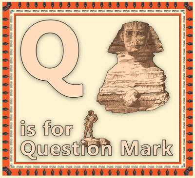 Alphabet flashcard Q is for Question Mark