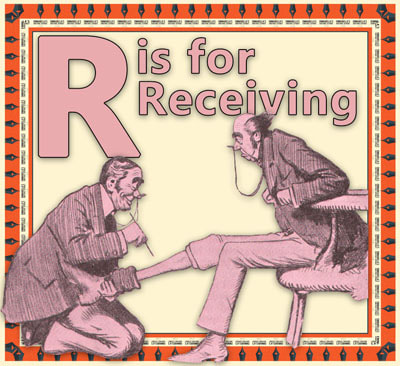 Alphabet flashcard R is for Receiving