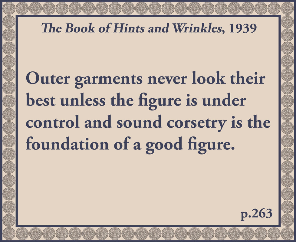The Book of Hints and Wrinkles advice on corsets
