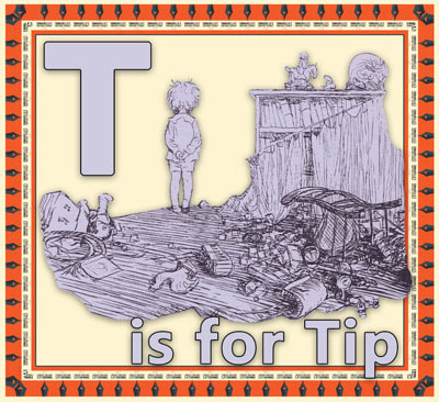 Alphabet flashcard T is for Tip